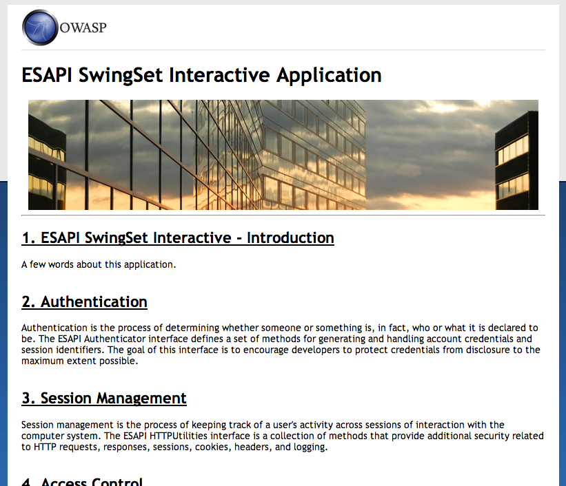OWASP ESAPI Java SwingSet Interactive