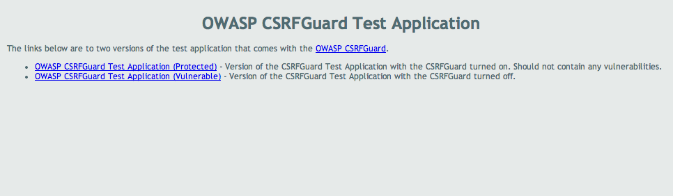 OWASP CSRFGuard Test Application